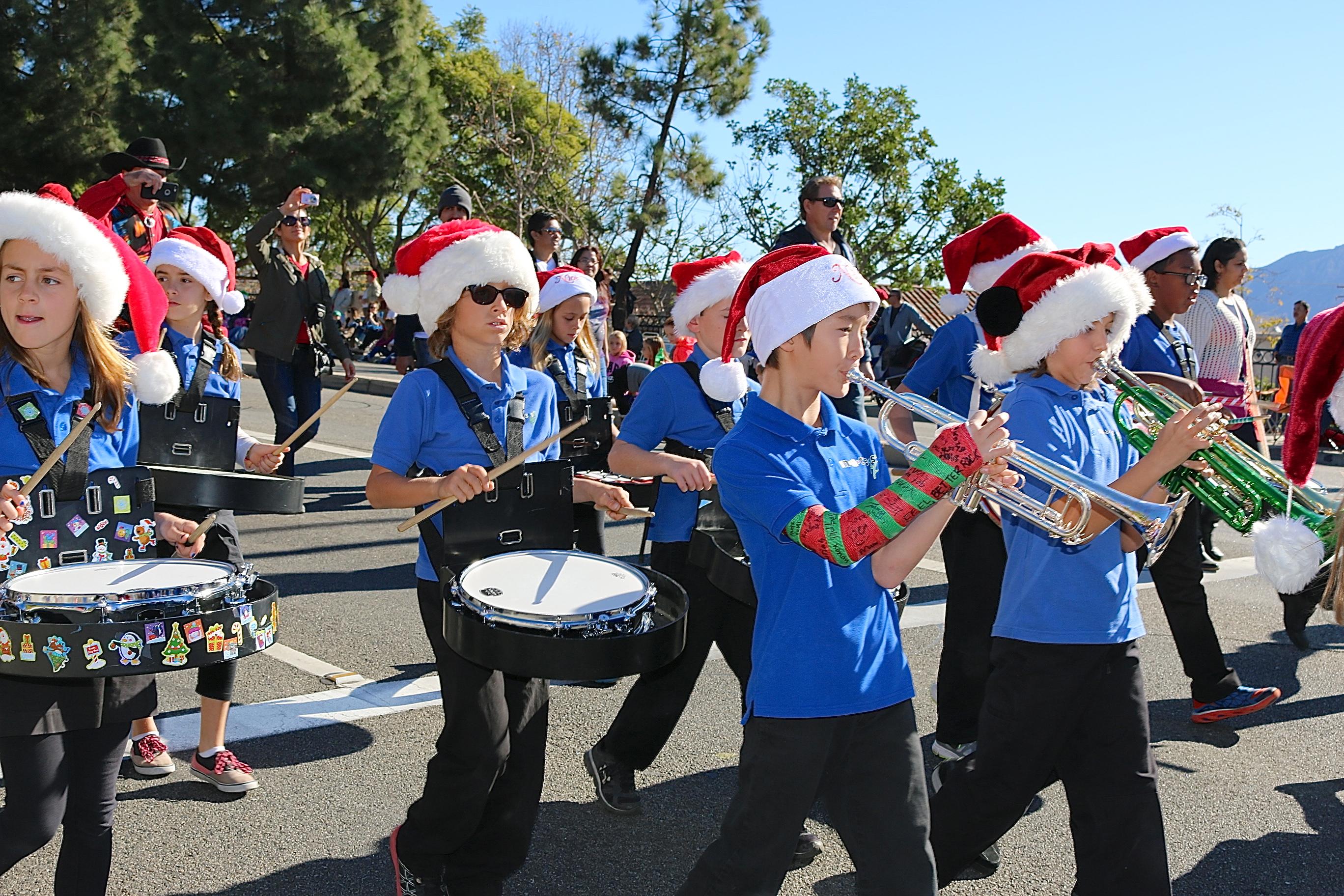 Camarillo Christmas Parade.Band Frank Laguardia